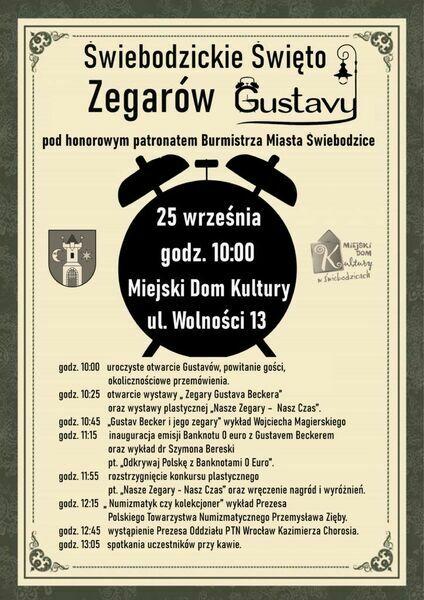 Zbliża się Świebodzickie Święto Zegarów Gustavy