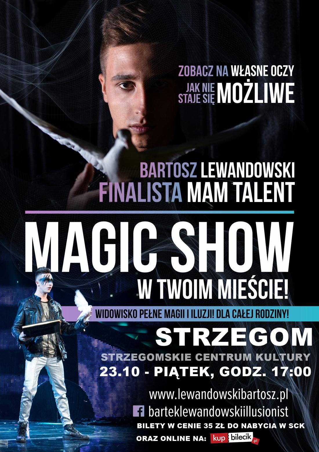 Magic Show Bartosza Lewandowskiego w Strzegomiu