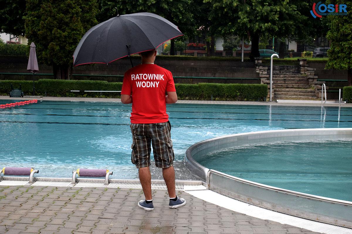 Pogoda zawiodła na otwarcie strzegomskich basenów [FOTO]