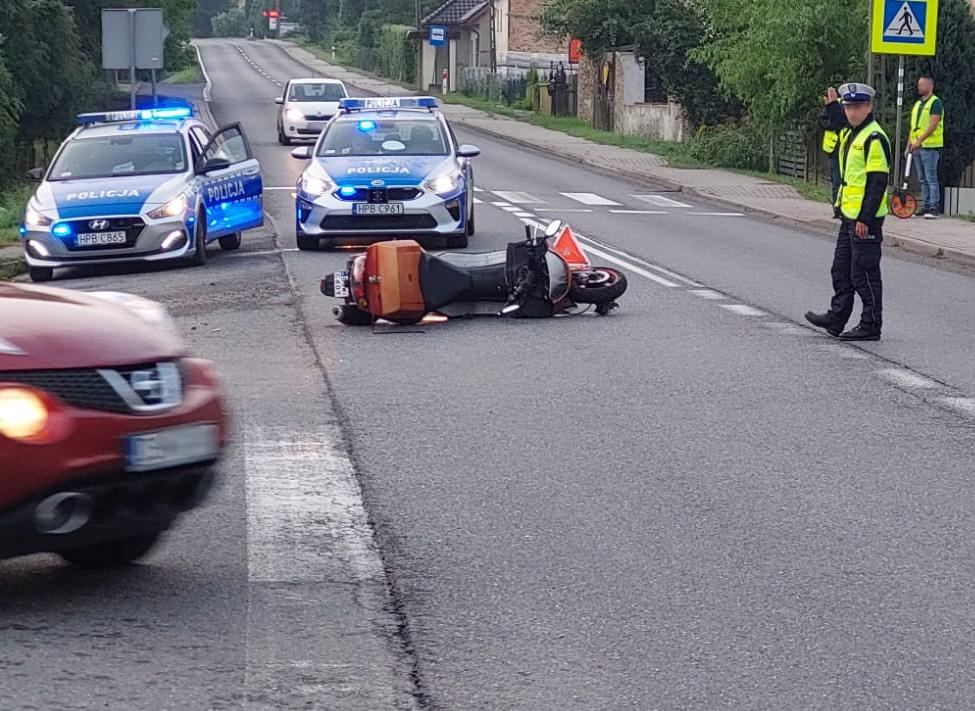 Wypadek z udziałem motocyklisty [FOTO]