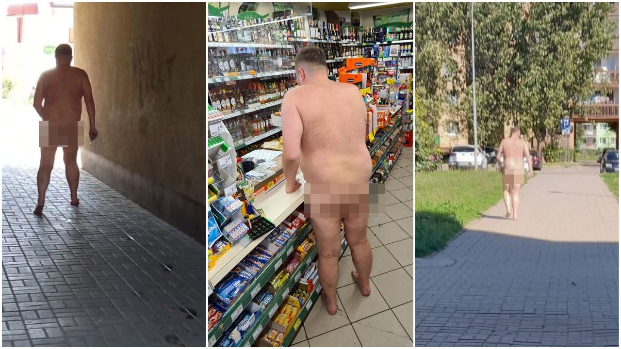 Nagi mężczyzna spacerował po mieście. To prokurator