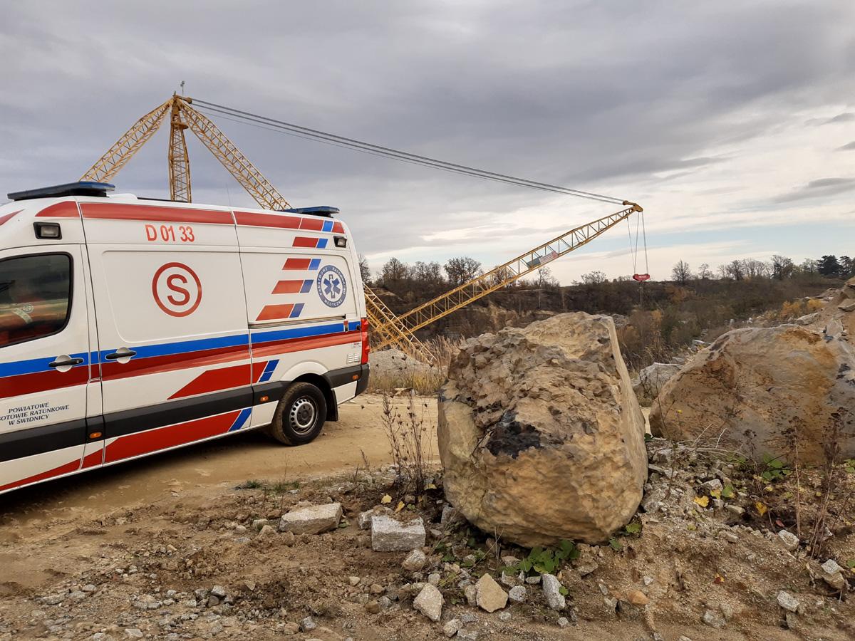 Śmiertelny wypadek w kamieniołomie [FOTO]