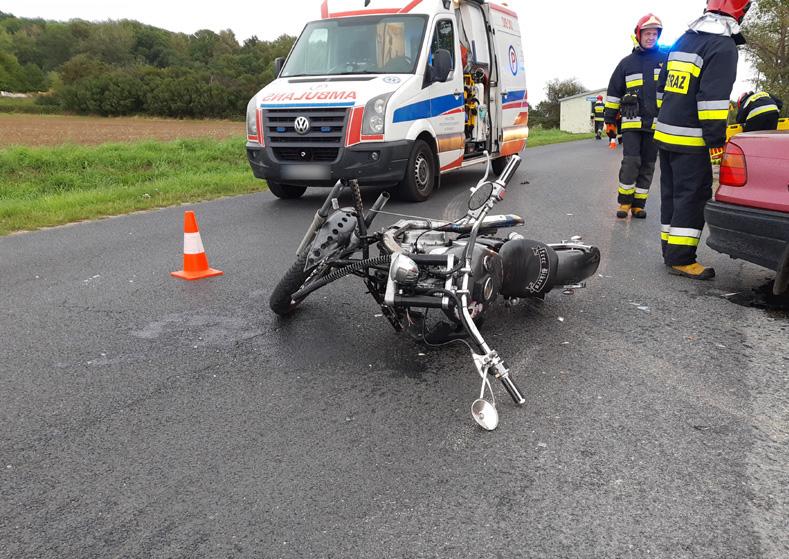 Kolejne zdarzenie z udziałem motocyklisty!